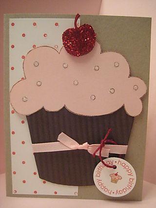 Big cupcake card