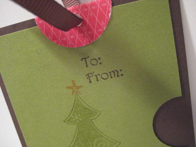 Ornament tag close up