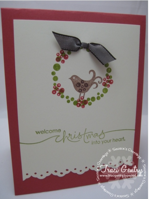 Berry Christmas Wreath Card wm