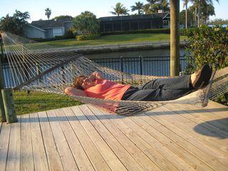 Traci in hammock