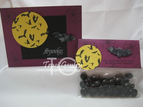 Spooky Halloween Card and treat bag wm