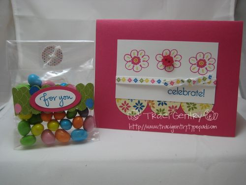 Flower Card w Cello Bag wm